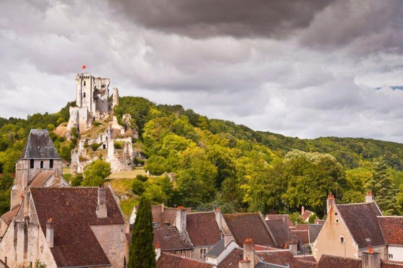 Toit du village et château de Lavardin