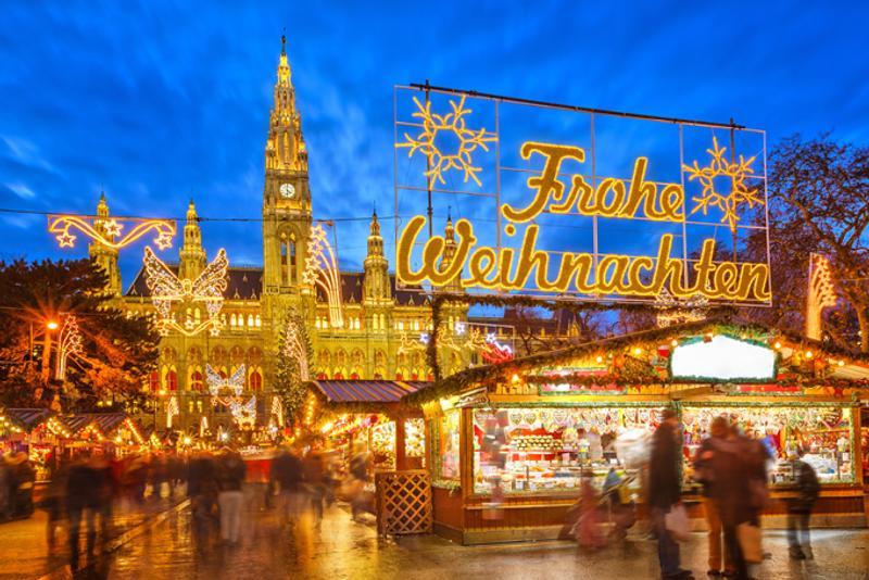 Рождественская ярмарка в Вене, Австрия