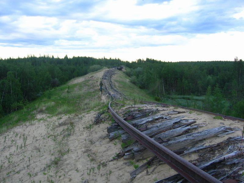 Заброшенное железнодорожное полотно на участке Салехард — Игарка