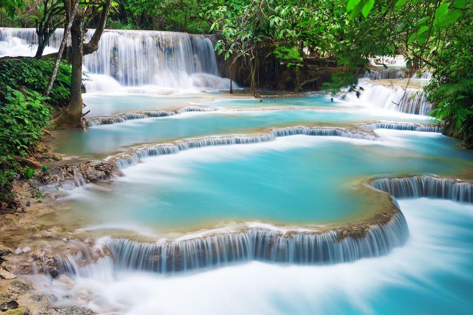 Водопад Куанг Си, Луангпрабанг, Лаос