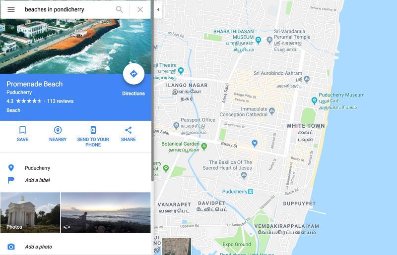 Beaches In Pondicherry - Pondicherry map