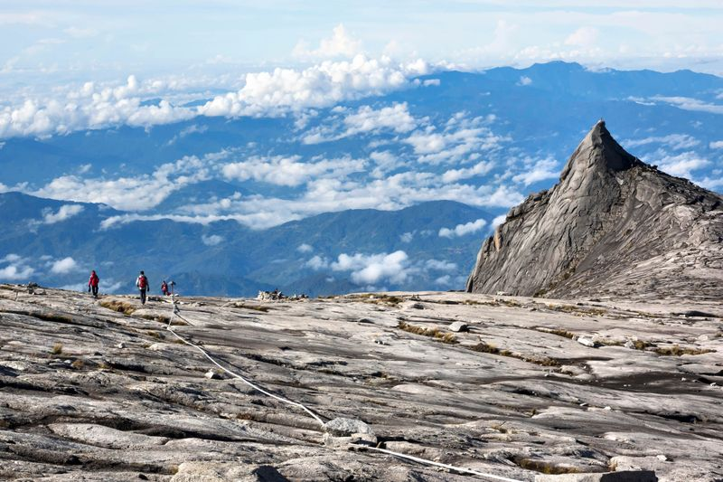 Landscape from the peak of Mount Kinabalu in Sabah, Malaysia