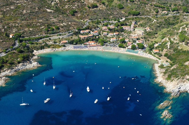 Der Strand von Cavoli, Toskana