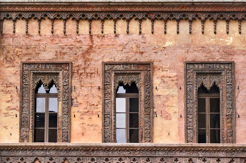 Finestra della casa del mercante a Mantova