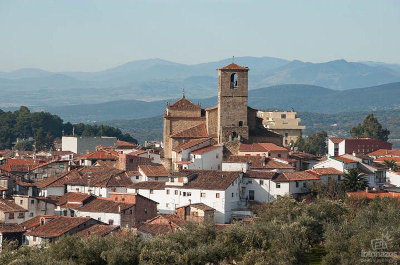 pueblo medieval de Hervás en el valle del Ambroz en Extremadura