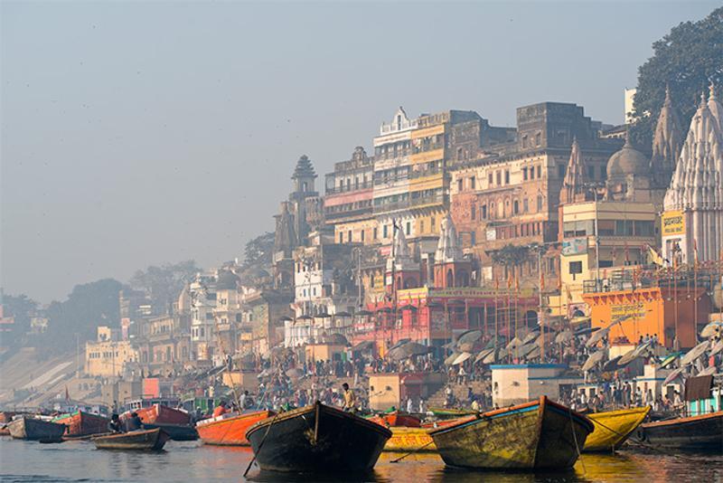Река Ганг в Варанаси, Индия