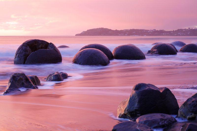 Moeraki Boulders in Neuseeland
