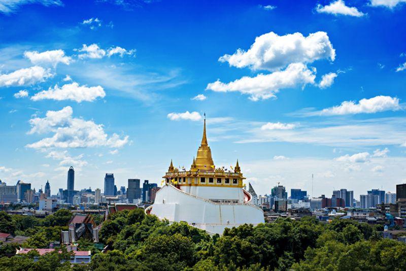 Храм Ват Сакет в Бангкоке, Таиланд
