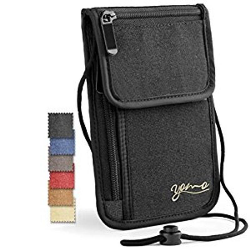 YOMO Neck Passport Holder and Travel Wallet