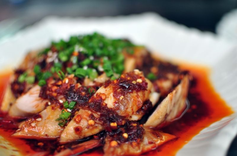 An extra hot Chinese chicken dish