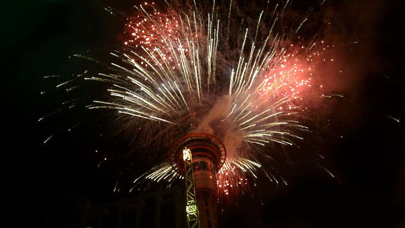 fireworks from The Sky Tower