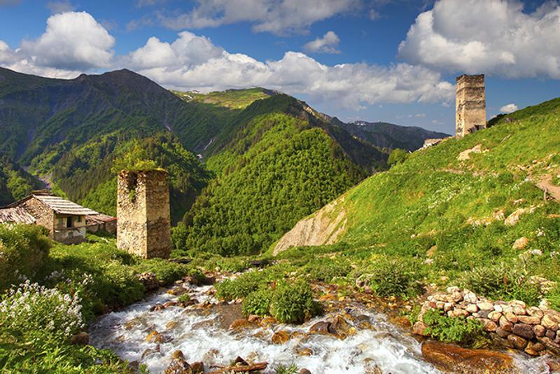 Сванские башни в Сванетии, Грузия