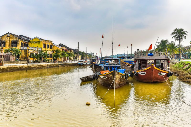 Hoi An, boats on the river, Vietnam
