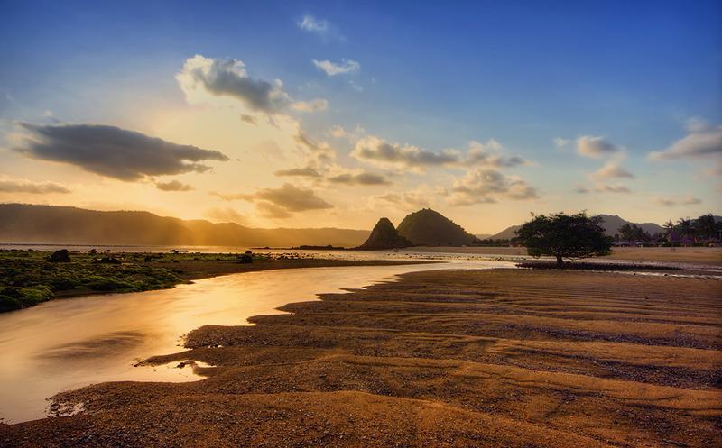 Sunset di Pantai Kuta, Lombok