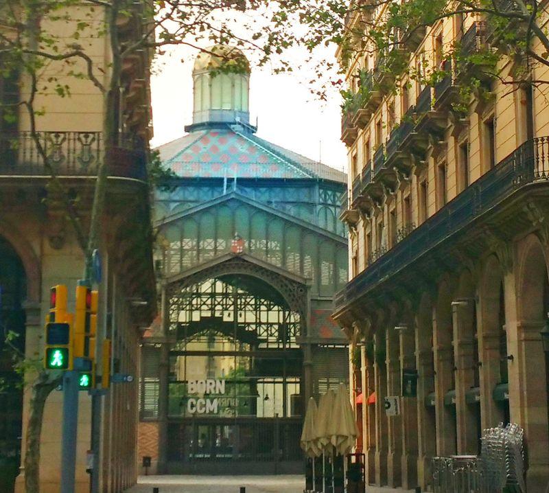 Centro Cultural del Born en el Barrio del Born de Barcelona