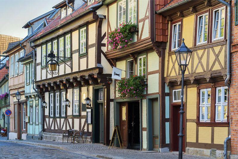Фахверковые дома в Кведлинбурге, Германия