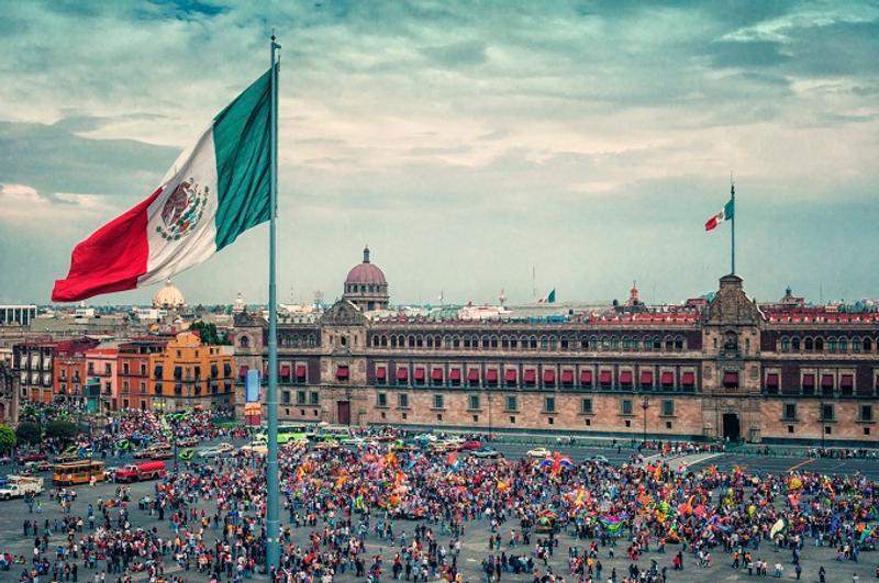 Plaza del zócalo México ciudad