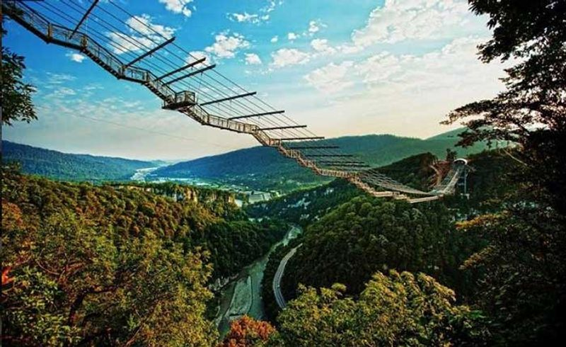 Sochi Skybridge Russland Hängebrücke