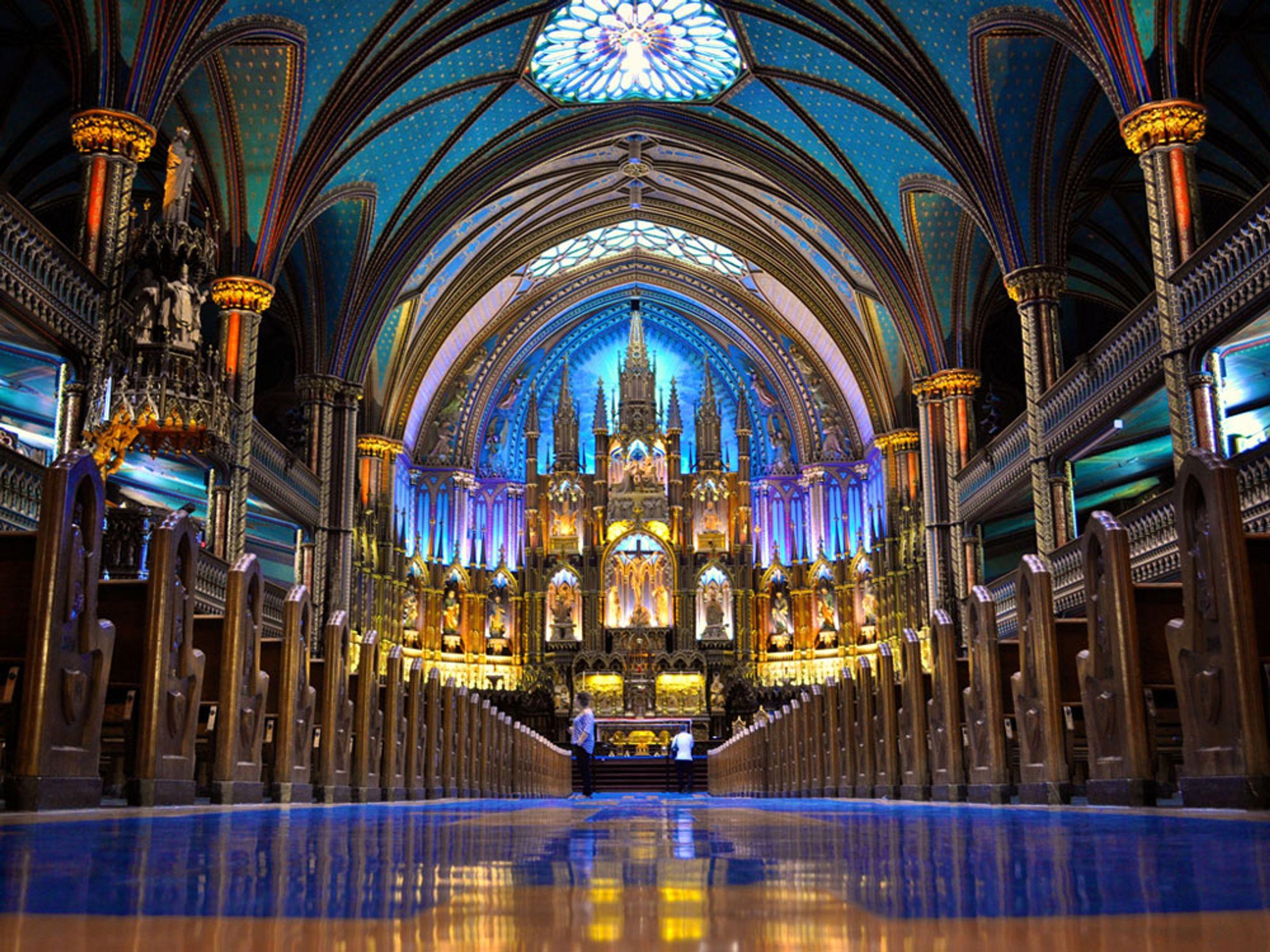 Şehrin en önemli yapılarından biri olan Bazilika.