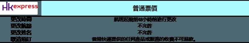 香港快運改簽與退票