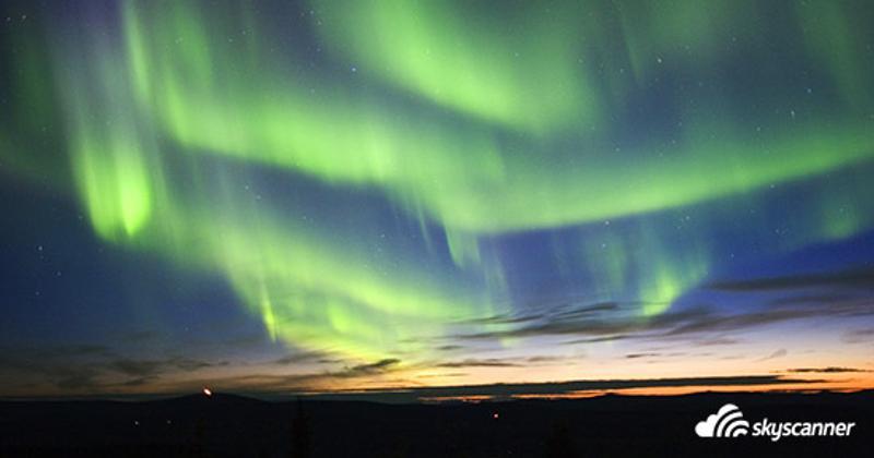 แสงเหนือออโรรา (Northern Light Aurora) แฟร์แบงค์ (Fairbanks) รัฐอลาสก้า (Alaska)