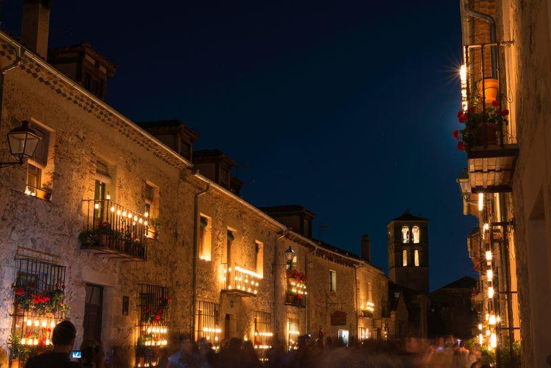 Concierto de las velas en Pedraza, Segovia
