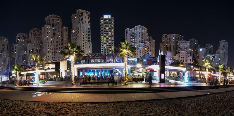 Пляж Jumeirah Beach Residence или JBR в Дубае