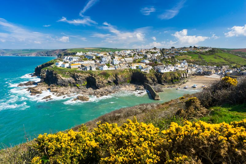 The coast of Cornwall