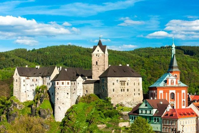 centro storico di Loket, Repubblica Ceca