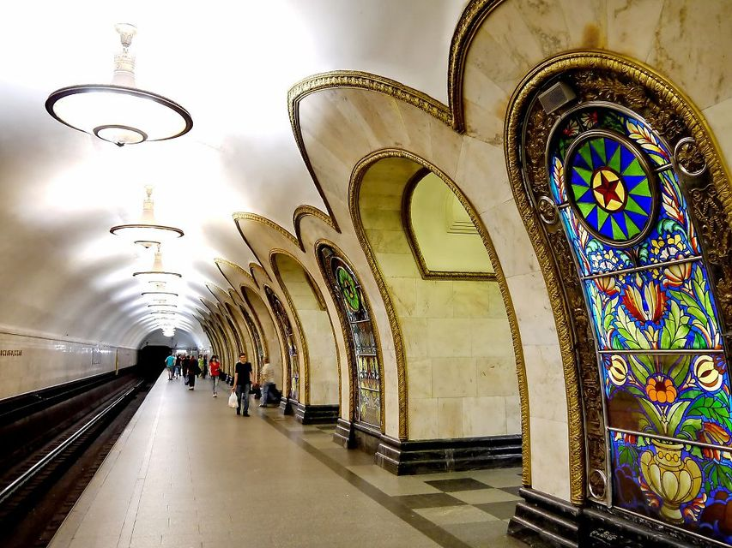 Moskova Metro İstasyonunun Ünlü Durakları