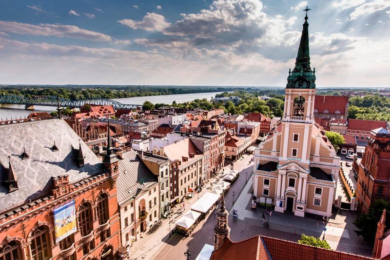 Veduta di Torun, Polonia