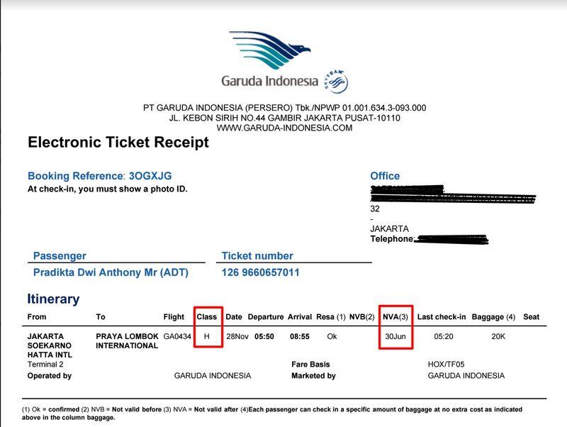 Cara Reschedule Tiket Garuda Indonesia