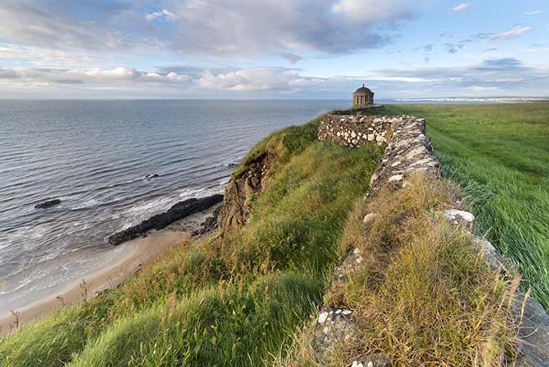 templo de mussenden y playa de downhill en irlanda del norte juego de tronos