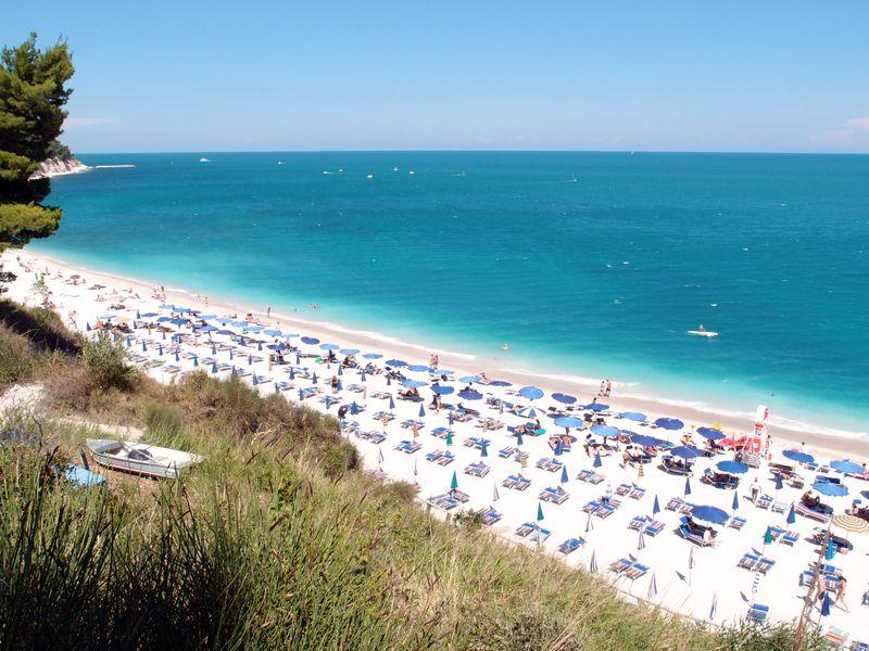 Der Strand von San Michele, Marken