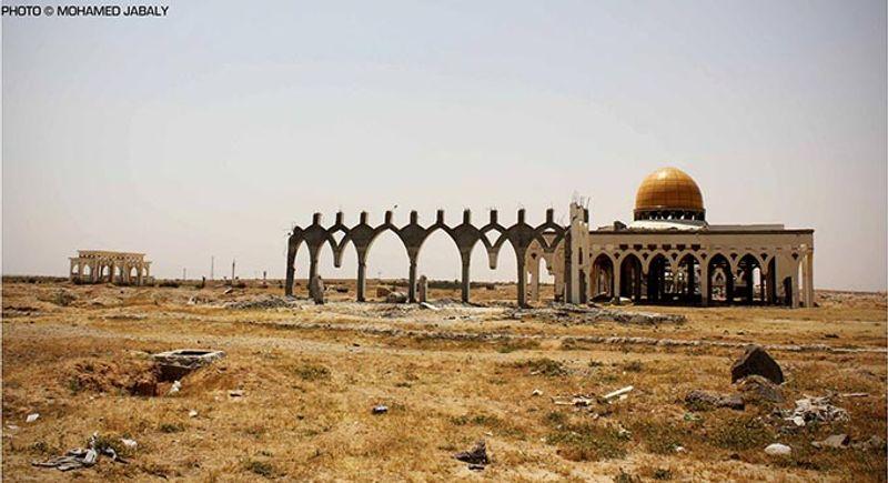 Международный аэропорт в Газе, разрушенный израильскими войсками