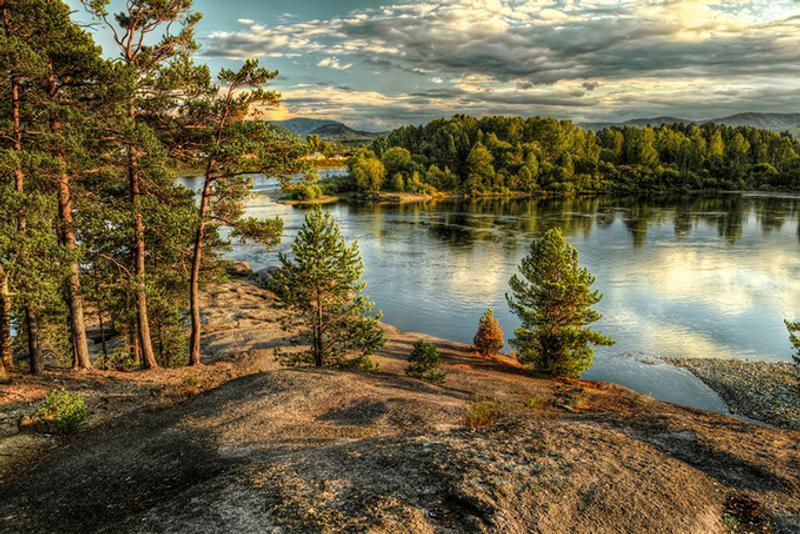 Панорама алтайского заповедника, Россия