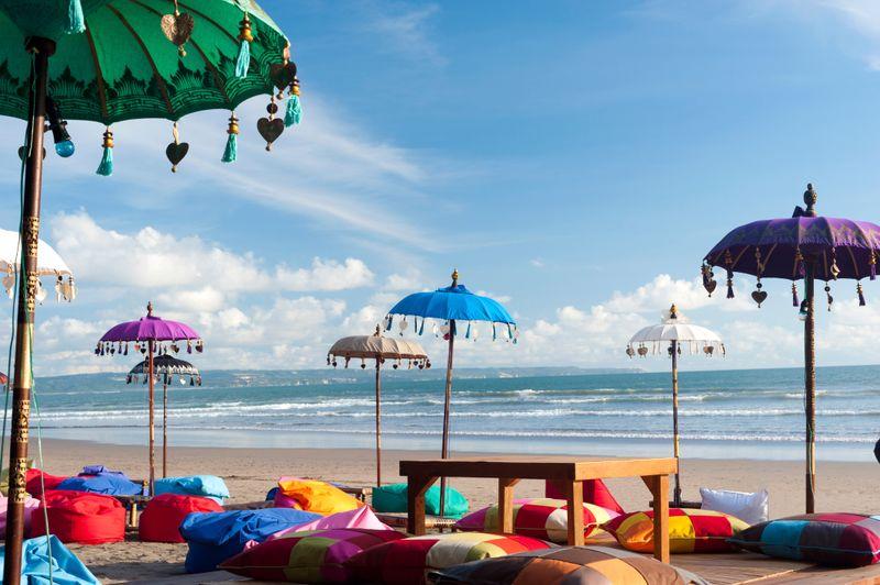 Bãi biển rực rỡ sắc màu ở Bali
