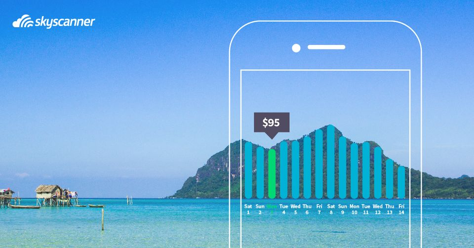 Fetch the Cheapest Time to Fly with the Skyscanner App