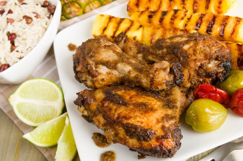 Jamaica's peppery chicken