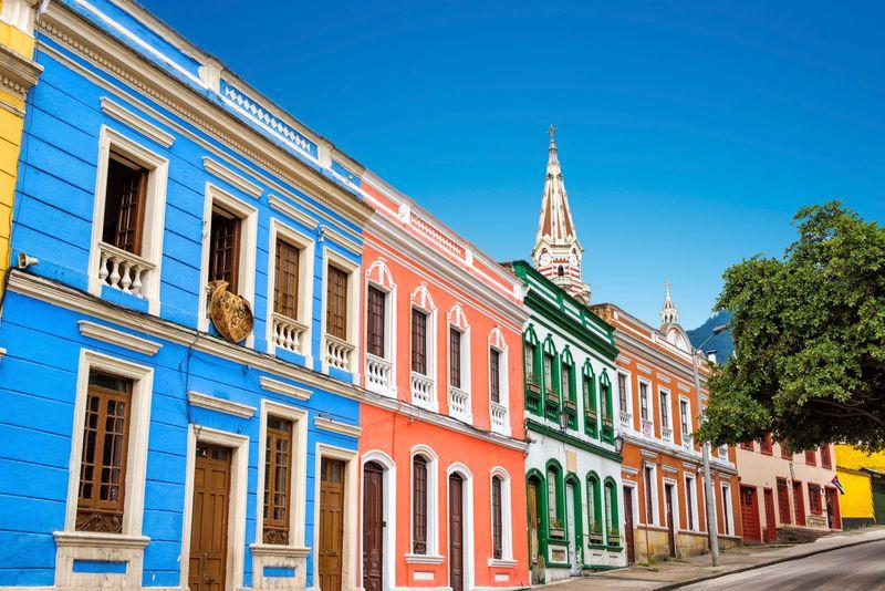 Salah satu sudut kota di La Candelaria, Bogota, Kolombia
