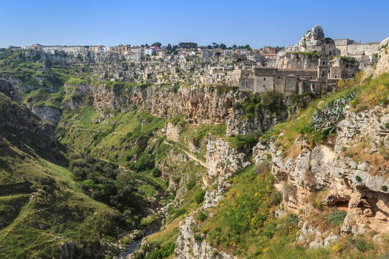 panorama del parco della murgia materana