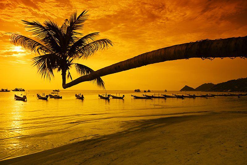 Закат на острове Ко Тао
