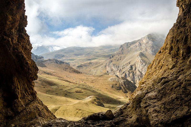 Горный пейзаж в Губинском районе Азербайджана