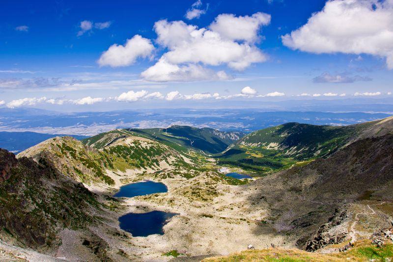 Мусаленские озера в горах, Национальный парк Рила, Болгария