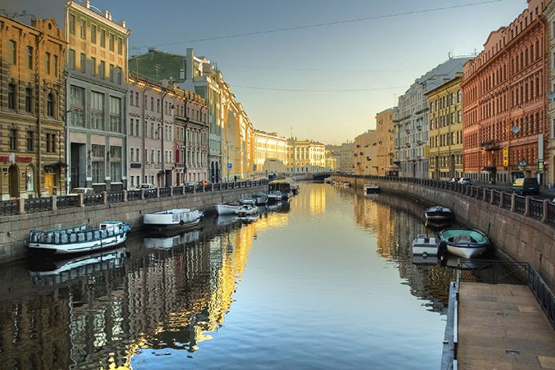 Река Мойка в Санкт-Петербурге, Россия