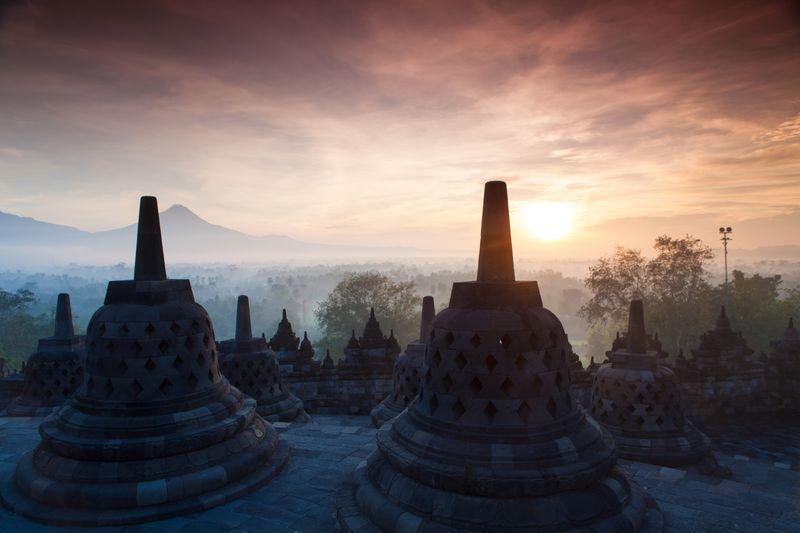 A beautiful sunrise in Indonesia