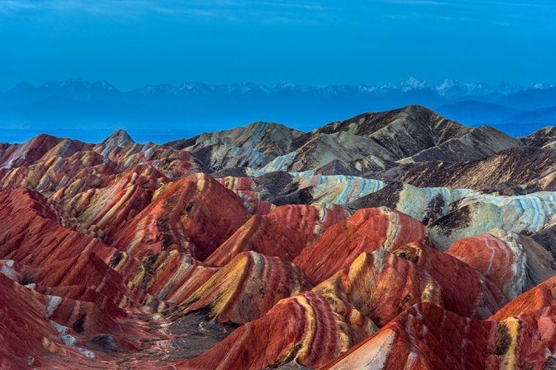 montañas de colores china