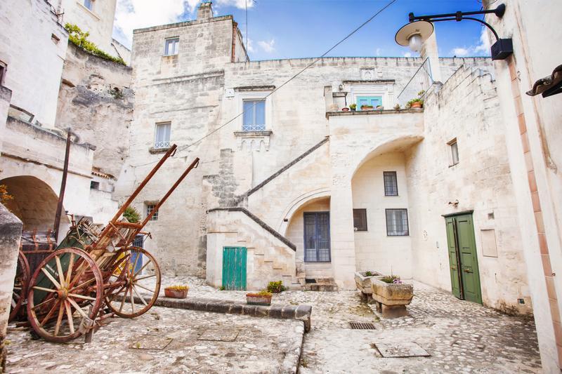 scorcio del borgo antico di Matera