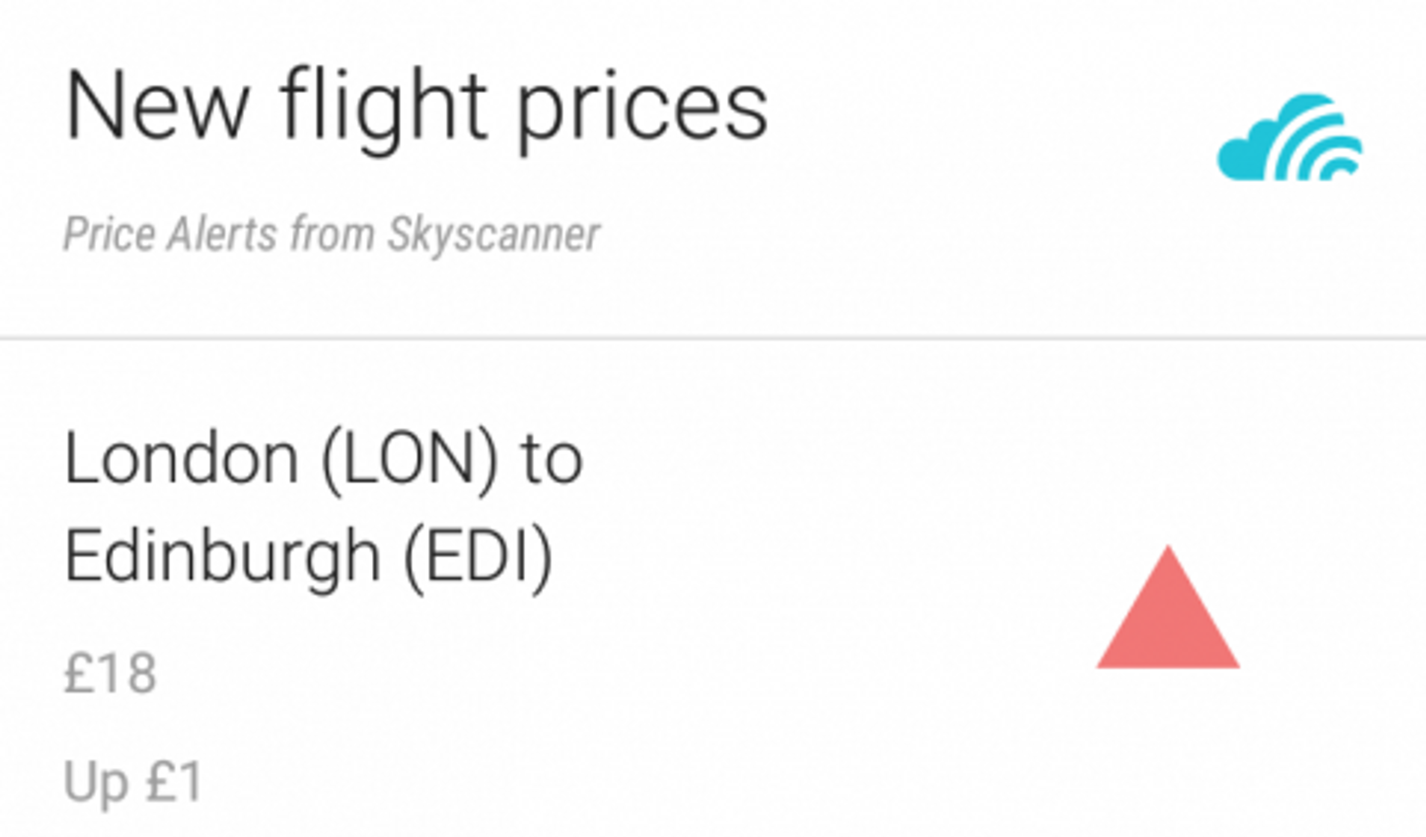 Enjoy Instant Price Alerts For Flights With Skyscanner Now Card Android