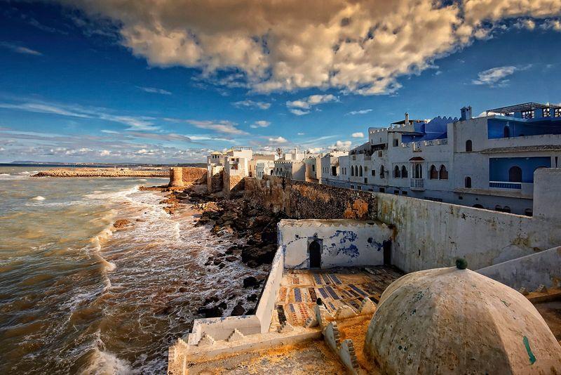 Город Асила в области Танжер-Тетуан, Марокко
